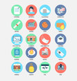 Internet trend flat design icons vector image
