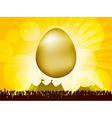 Easter golden egg and crowd vector image vector image