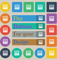 checkers board icon sign Set of twenty colored vector image