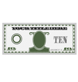 Ten bill money vector image