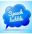 blue speech bubble isolated vector image