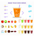 bubble drink juice creator for apps design vector image