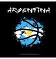Flag of Argentina as an abstract basketball ball vector image