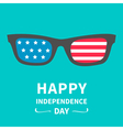 Glasses with stars and strips independence day vector image