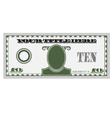 Ten bill money vector image