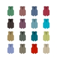 Set of colored waistcoats vector image vector image