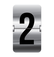 Alphabet silver flipboard letters 2 vector image vector image