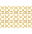Gold ornament pattern vector image