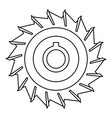 circular saw disk icon outline style vector image