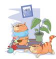 sick cats vector image vector image