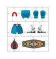 boxing set plastic model kit collection champion vector image