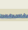city panorama hand drawn cityscape vector image