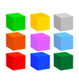 nine cubes vector image vector image