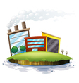 An island with factories vector image vector image