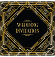 art deco gatsby wedding vector image
