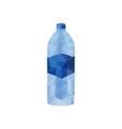 origami water bottle vector image