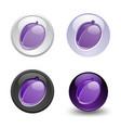 plum button set web 20 icons vector image