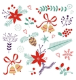 An elegant winter foliage set vector image vector image