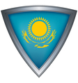 steel shield with flag kazakhstan vector image