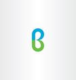 green blue logo b letter b logotype icon vector image