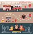 Firefighter Banner Set vector image vector image