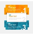 colorful text boxes infographics options banner vector image