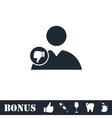 Dislike avatar icon flat vector image