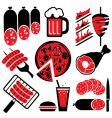 food barbecue vector image