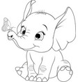 funny kid elephant vector image