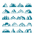 monochrome pictures set of different mountains vector image