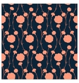 Seamless pattern of carnations vector image