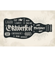 Poster bottle of beer with hand drawn lettering vector image