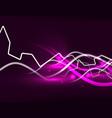 glowing wavy lines template vector image vector image