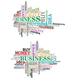 Business tag cloud vector image vector image