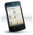 newspaper inside pocket mobile phone vector image
