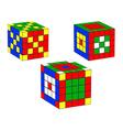 three dice vector image