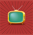 Yellow TV on a vintage background vector image