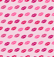 Seamless Texture with Traces of Kisses Pink vector image vector image