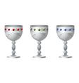silver goblet vector image