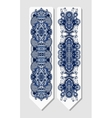 floral decorative ethnic paisley bookmark for vector image