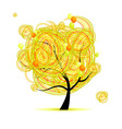 yellow tree vector image vector image