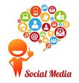 SocialMediaI vector image