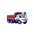 Dump Truck Waving Cartoon vector image