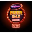 Beer bar Neon sign vector image