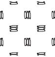 black short strips on white vector image
