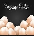 easter eggs isolated black background vector image