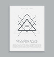 geometric hipster symbol vector image