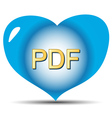 I love pdf vector image