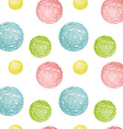 Seamless pattern composed of multicolored circles vector image