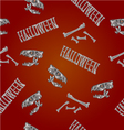 Seamless texture Halloween inscription vector image